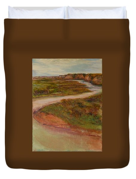 Little Missouri Overlook  Duvet Cover