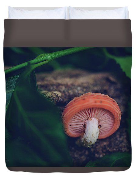 Little Mushroom Duvet Cover by Jamie Cook