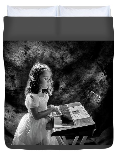 Little Musician Duvet Cover
