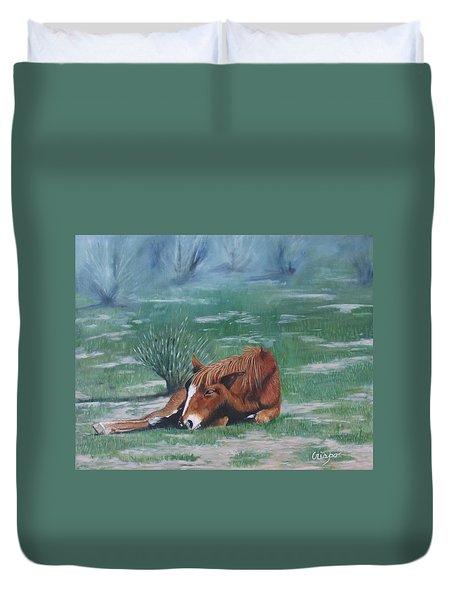 Little Nap Duvet Cover by Jean Yves Crispo