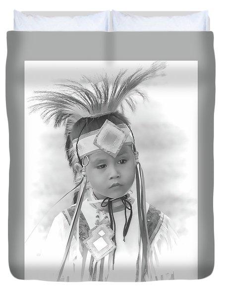 Little Native American Dancer Duvet Cover