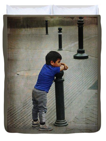Little Peruvian Boy Duvet Cover