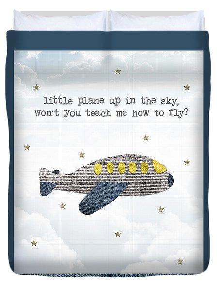 Little Plane Duvet Cover by Samuel Whitton