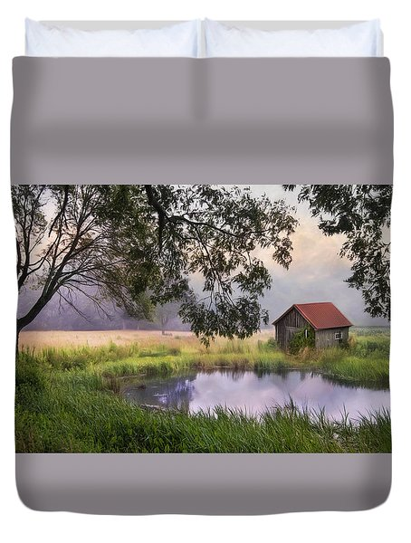 Duvet Cover featuring the photograph Little Pond by Robin-Lee Vieira