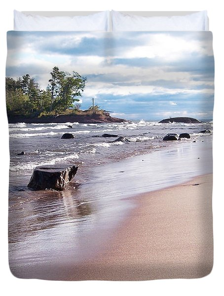Little Presque Isle Duvet Cover by Phil Perkins