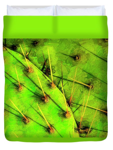 Duvet Cover featuring the photograph Prickly Pear by Paul Wear