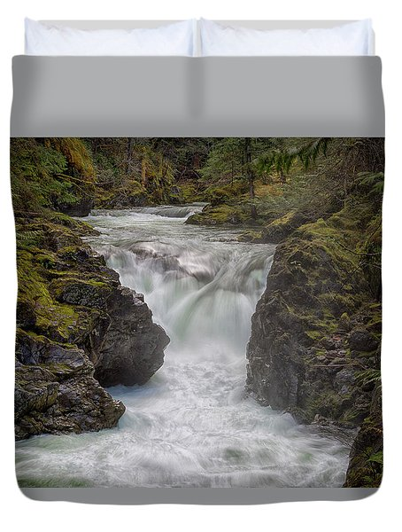Little Qualicum Lower Falls Duvet Cover by Randy Hall