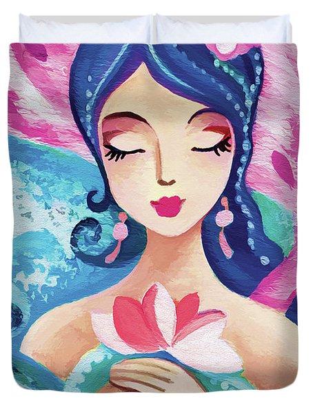 Little Quan Yin Mermaid Duvet Cover