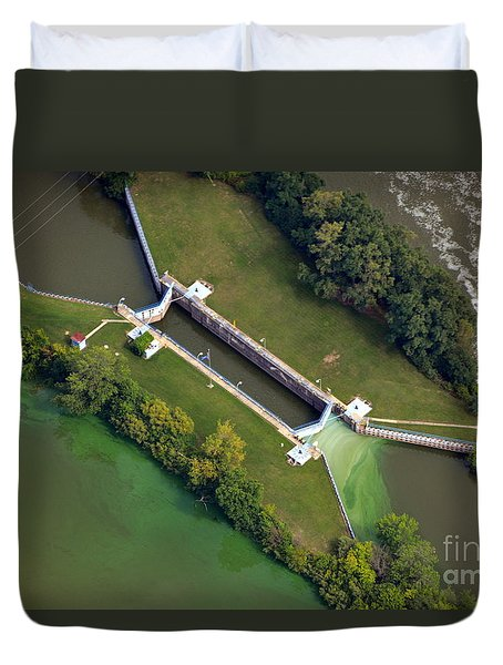 Duvet Cover featuring the photograph Little Rapids Lock by Bill Lang