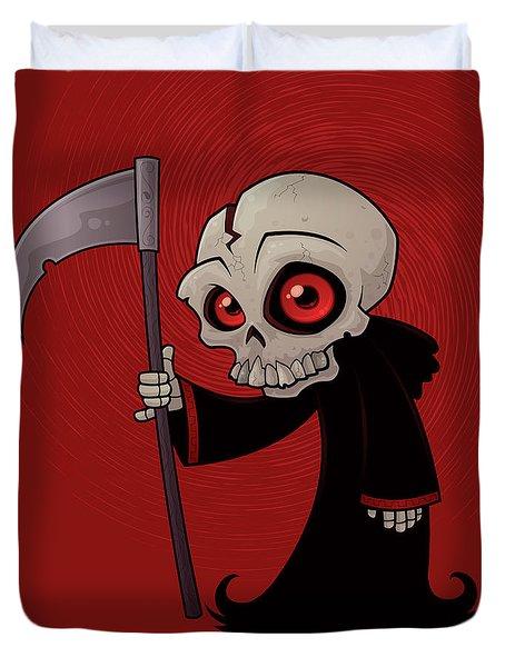 Little Reaper Duvet Cover by John Schwegel