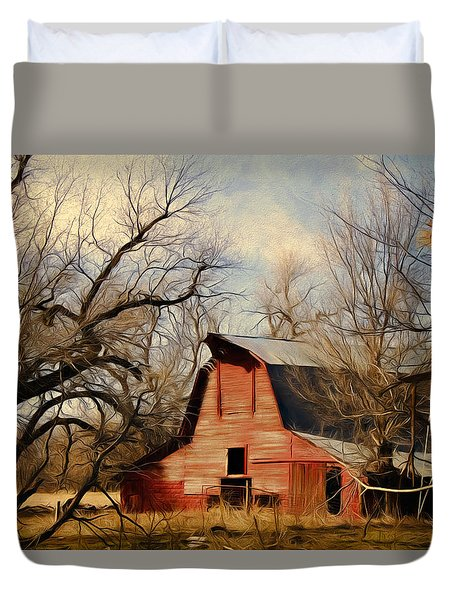 Little Red Barn Duvet Cover