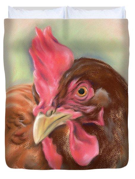 Little Red Hen Duvet Cover