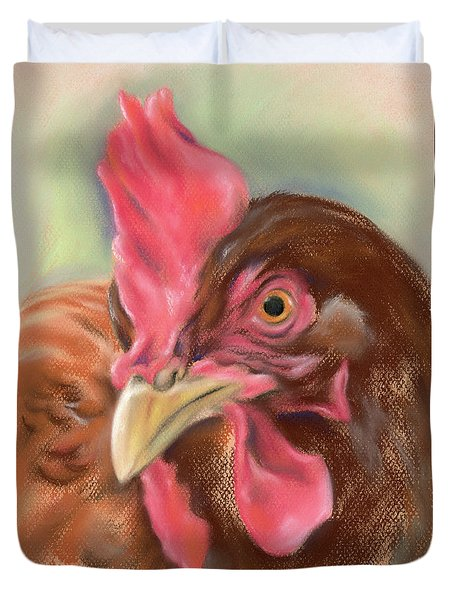 Little Red Hen Duvet Cover