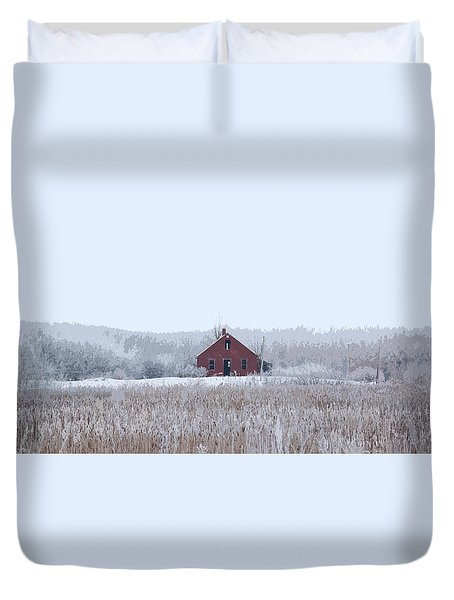 Little Red House Duvet Cover
