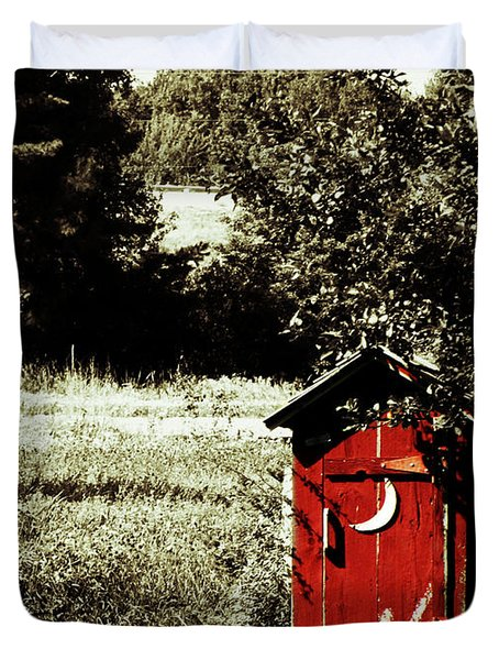 Little Red Outhouse Duvet Cover