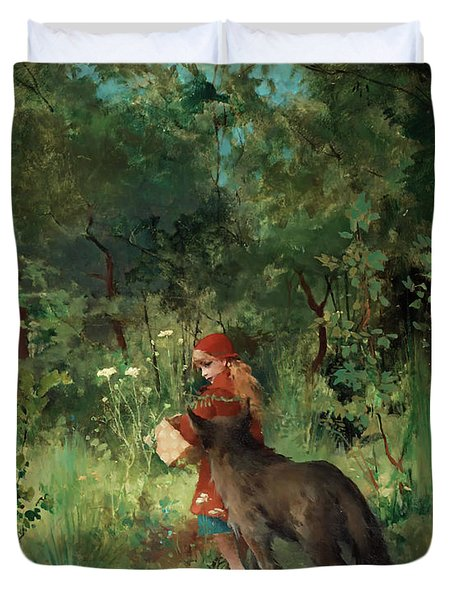Little Red Riding Hood Duvet Cover by Mountain Dreams