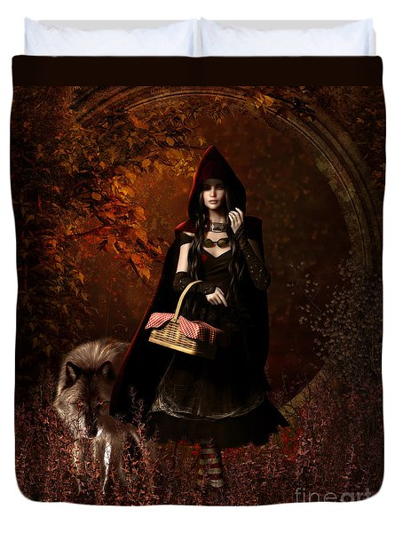 Little Red Riding Hood Gothic Duvet Cover by Shanina Conway