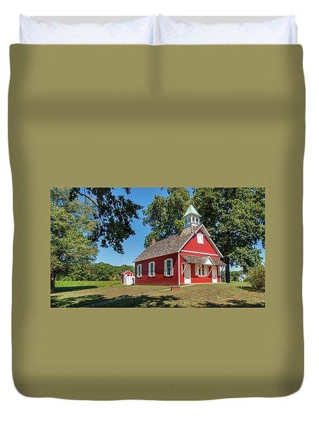 Little Red School House Duvet Cover