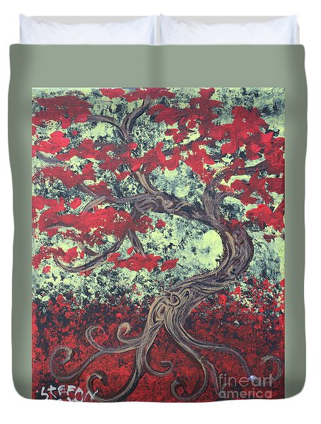 Little Red Tree Series 3 Duvet Cover