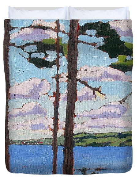 Little Rideau Lake Duvet Cover