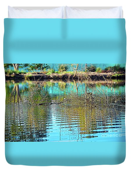 Duvet Cover featuring the photograph Little Ripples By Kaye Menner by Kaye Menner