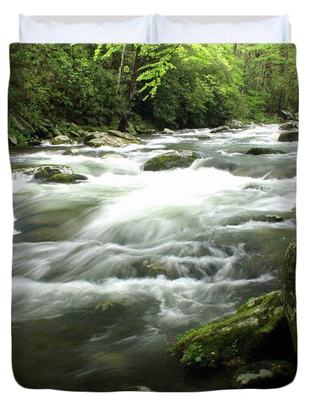 Little River 3 Duvet Cover by Marty Koch