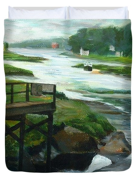 Little River Gloucester Study Duvet Cover