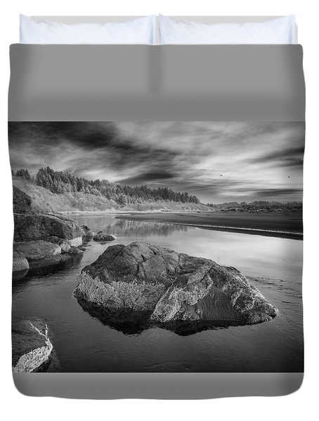 Little River In Infrared 1 Duvet Cover