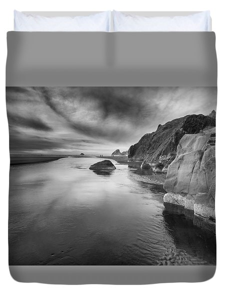 Little River In Infrared 2 Duvet Cover