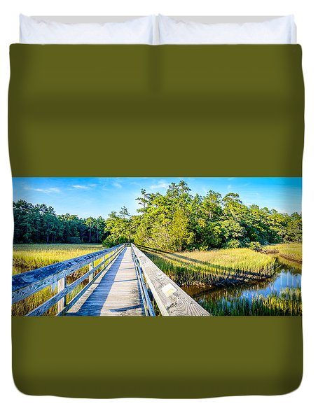 Little River Marsh Duvet Cover