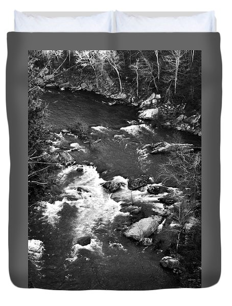 Little River Rapids Duvet Cover
