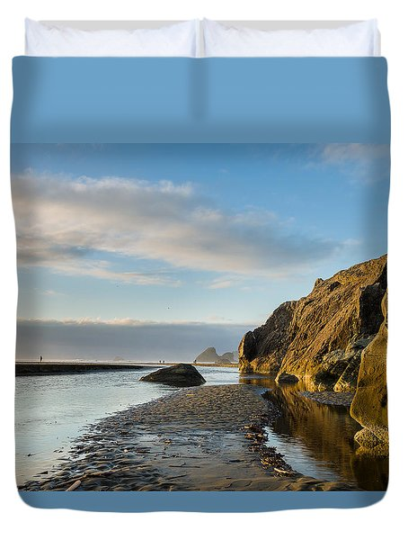 Little River To The Sea Duvet Cover