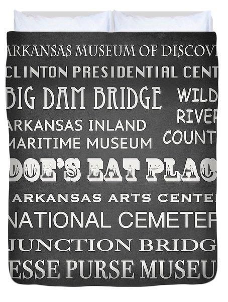 Little Rock Famous Landmarks Duvet Cover