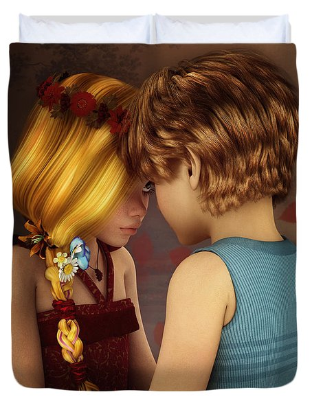 Little Romance Duvet Cover by Jutta Maria Pusl