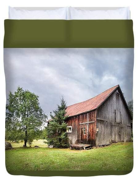 Duvet Cover featuring the photograph Little Rustic Barn, Adirondacks by Gary Heller