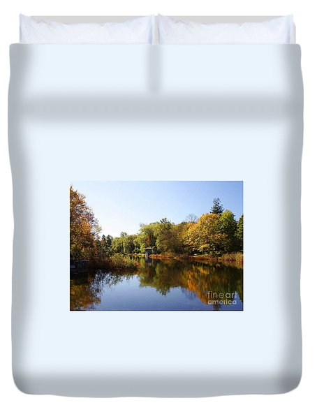 Little Shawme Pond In Sandwich Massachusetts Duvet Cover