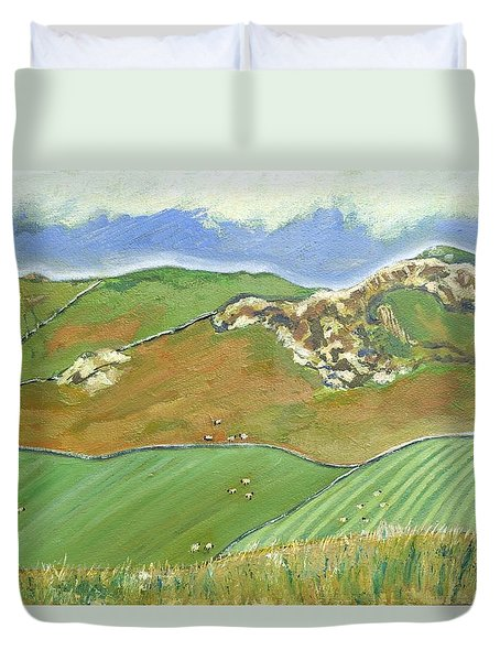 North Of The Coast Road Duvet Cover