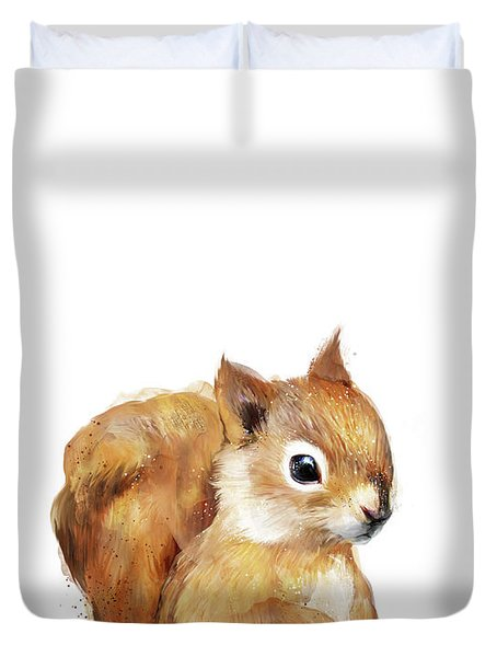 Little Squirrel Duvet Cover by Amy Hamilton