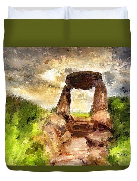 Little Stonehenge Duvet Cover by Dave Luebbert