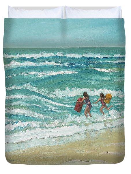 Little Surfers Duvet Cover