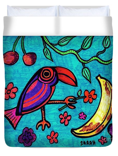 Little Toucan Duvet Cover by Sarah Loft