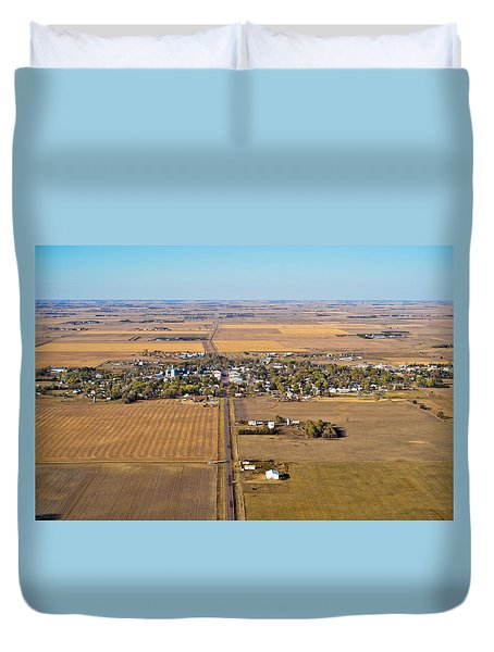 Little Town On The Prairie Duvet Cover