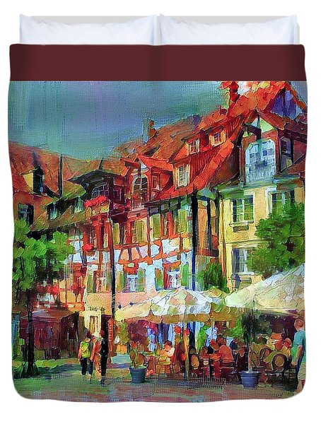 Little Town Duvet Cover