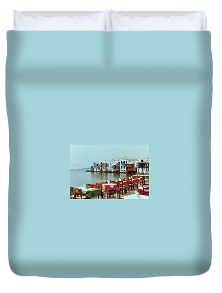 Little Venice On Mykonos Duvet Cover