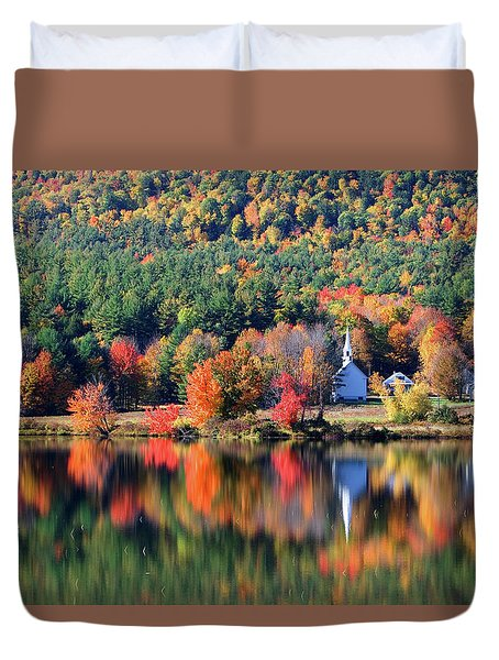 'little White Church', Eaton, Nh	 Duvet Cover