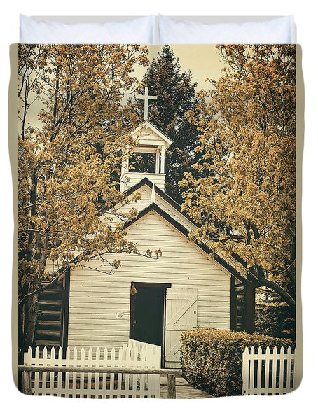Little White Church Duvet Cover