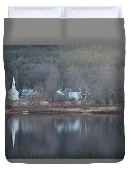 Little White Church Nh Duvet Cover