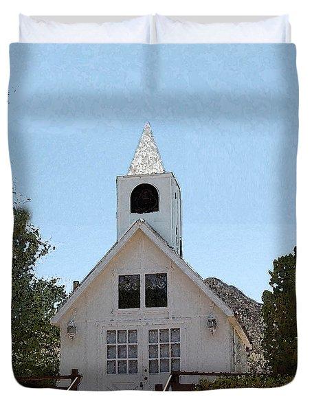 Little White Church Duvet Cover