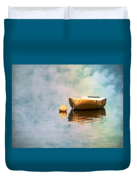 Little Yellow Boat Duvet Cover