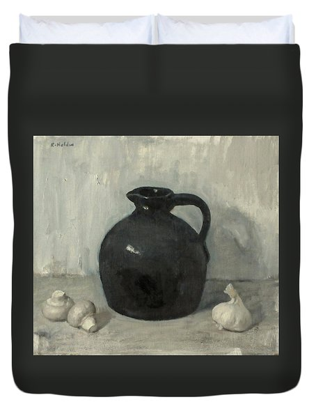 Litttle Brown Jug, Mushrooms And Garlic Duvet Cover